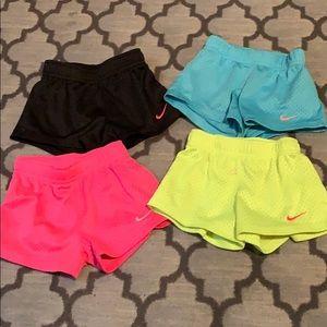 Little girls Nike shorts